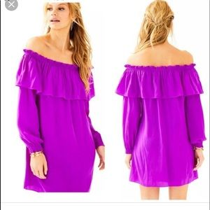 Lilly Pulitzer The Dee Dee Dress Purple Silk (XS)